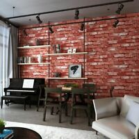 Realistic 3D Wall Vintage Textured Wallpaper Stone Brick Effect Rustic Vinyl