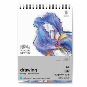 Winsor & Newton Wire-O Drawing Pad Medium Grain 25S 150gsm A4