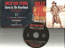 BILLY RAY CYRUS Storm In Heartland PROMO DJ CD Single w/ PRINTED LYRICS 1994 USA