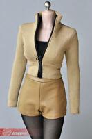 "1/6 Women Elastic Skinny Zipper Clothes For 12"" Female Phicen TBL Figure Body"