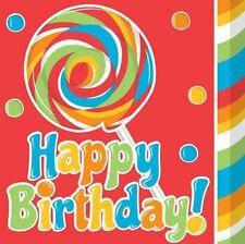 HAPPY BIRTHDAY Sugar Buzz LUNCH NAPKINS 16 Party Supplies Serviettes Dinner