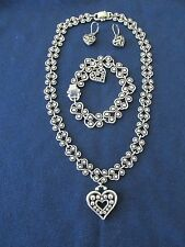 Brighton Dangling Heart Necklace Bracelet Earring Set New  earrings Set 3pcs