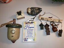 Set Of Ceramic Home Decorations: Duck, Acorn Bird House, Mini Bird Houses, Etc..