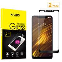 2X KS For Xiaomi Poco Phone F1 Full Cover Tempered Glass Screen Protector -Black