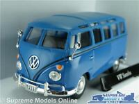 VOLKSWAGEN SAMBA CAMPER VAN CAR BUS MODEL 1:43 SIZE BLUE SPLIT SCREEN T1 VW T3