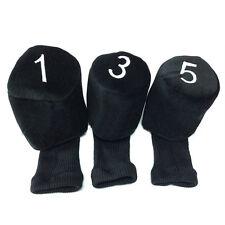 Golf Club Knit Head Covers Fairway Wood 1 3 5 Headcover Dustproof Protector 3PCS