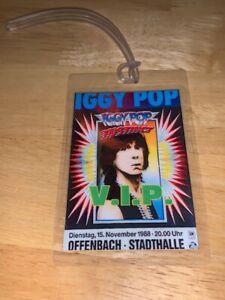 Iggy Pop REPLICA Backstage Pass