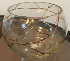 PartyLite Calypso Gold Glass Tealight Votive Candle Holder Candy Rose Bowl New