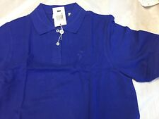 Ladies Ashworth Golf Shirt M Cotton Medium New Bagged Royal Blue