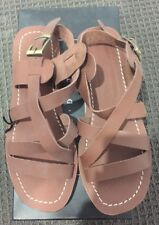 NEW - Saint Dieters - Hey Zeus Leather Sandals - Chocolate Brown - RRP $160.00