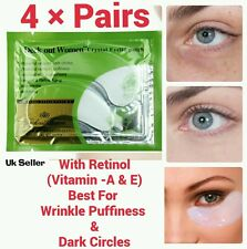 4×pcs With Retinol Crystal Collagen Vitamin-A & E Eye Lifting Anti-Wrinkle Mask