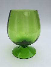 vintage green glass vase, Rainbow Art Glass Co. 1963 - 1973