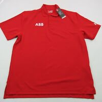 Under Armour Mens Polo Golf Shirt Red Short Sleeve Standard Solid XL New Tag
