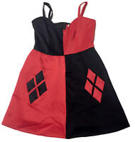 Girls Dress DC Comics Harley Quinn Sleeveless Red-Black NEW w/out Tags Sz 16