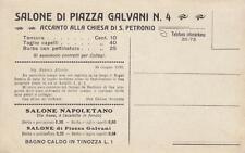 A9373) BOLOGNA, BARBIERE, SALONE DI PIAZZA GALVANI, TAGLIO, BAGNO CALDO.