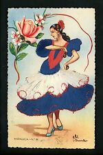 Embroidered clothing postcard Artist Gumier Spain Andalucia woman costumes #84