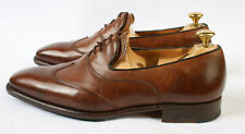 Gieves & Hawkes Savile Row Low Cut Oxford Mahogany Polo Calf Leather Shoes UK 9