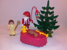 sympa pere noel + ange  playmobil ( sapin , cadeau   ) 0397