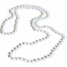 White Pearl Necklace 48 inch 7mm Pearl Necklaces Pack of 12 Jewelry Party Gifts