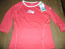 REEBOK LADIES TENNESSEE TITANS RED SHIRT MADE WITH ANTIMICROBIAL MATERIAL
