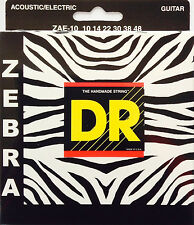 DR Zebra Acoustic-Electric Guitar Strings ZAE-10 lite 10-48