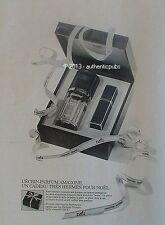 PUBLICITE HERMES AMAZONE ECRIN PARFUM COFFRET DE NOEL DE 1980 FRENCH AD PERFUME