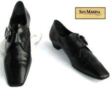 SAN MARINA - SHOE CURL COMFORT. BLACK LEATHER 38 - MINT