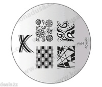 KONAD STAMPING NAIL ART DESIGN TEMPLATE IMAGE PLATE M64