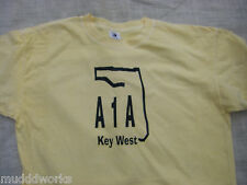 A1A T-shirt Parrot Key West,Havana Florida Miami  Parrot shirt islands beach frt