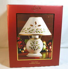 Lenox Holiday Candle Lamp, Christmas Holly Berry Shade Votive Candle Holder