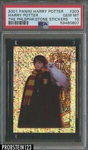 2001 Panini Harry Potter Philosopher's Stone Stickers #203 Harry Potter PSA 10