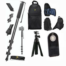 "72"" PRO MONOPOD + TRIPOD + REMOTE + BACKPACK  FOR CANON EOS REBEL 1200D 1300D"