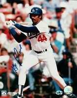 Ken Kenny Landreaux Signed 8X10 Photo Autograph LA Dodgers Home at Bat w/COA