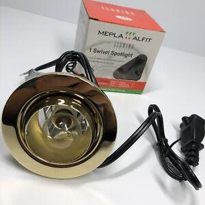Swivel Spotlight GOLD Incandescent Bulb 120V/40W Recessed Lighting Kit -AC (A3)