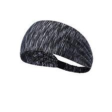 Gray Marble Spandex Yoga Headband Turban Style Soft Stretchy Headband