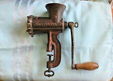Antique Vintage Husqvarna Reliance No 8 Meat Grinder Made in Sweden