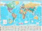 Collins World Wall Paper Map by Collins Maps 9780008211585   Brand New