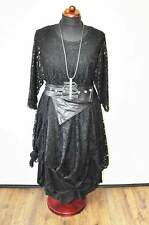 Designer-Lagenlook ° tip of the tunic-dress ° finest 3-D Lace°BLACK°ONE SIZE°