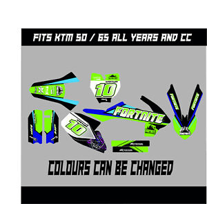 KTM SX 50 SX 65 FULL GRAPHICS KIT DECALS MOTOCROSS STICKERS ALL YEARS FORTNITE