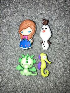 "DISNEY FROZEN ANNA OLAF GREEN DRAGON SEAHORSE JEWELRY HAIR BOW 1.25"" CRAFTS!"