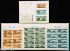 China the Second-Set (Year 1953) Renminbi 8-in-1 Uncut Fen-Bills/Banknotes