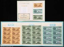 China the Second-Set (Year 1953) Renminbi 8-in-1 Uncut Fen-Bills