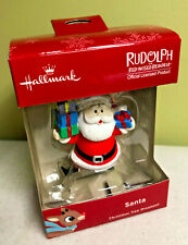 Hallmark Santa fr Rudolph Red Nosed Cartoon Christmas Tree Ornament Red Box NIB