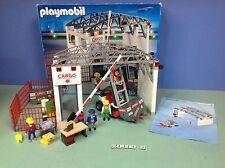 (O4314.2) playmobil Hangar marchandises série aéroport complet en boite ref 4314