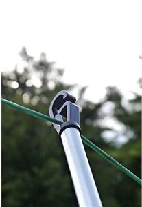 2.4M Extendable Prop Washing Support Clothes Line Pole Metal Telescopic Pole New