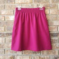 J.Crew Factory Women's Size 2 Fuschia Pink Wool Blend Pull-on Sidewalk Skirt NEW