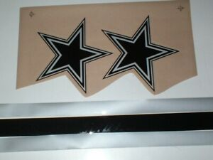 """DALLAS COWBOYS """"ECLIPSE"""" FULL SIZE FOOTBALL DECALS"""