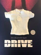 BBK Toys DRIVE Driver Ryan Gosling White T-Shirt loose 1/6th scale