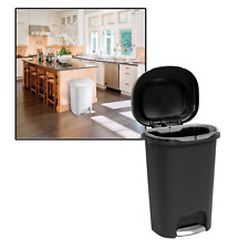 13-Gal. Step-On Trash Can Household Supplies And Cleaning Durable W/ Liner Lock