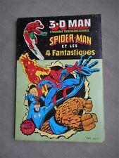 ARTIMA COLOR MARVEL 3.D MAN SPIDER-MAN ET LES 4 FANTASTIQUES ETAT CORRECT
